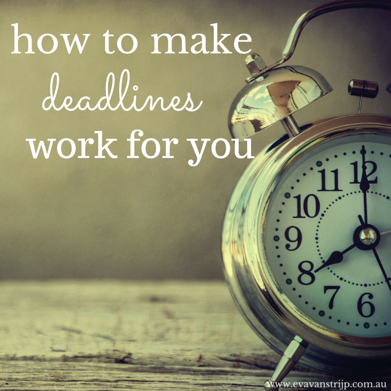 Tips for making deadlines work for you. Learn how to use deadlines to improve productivity.