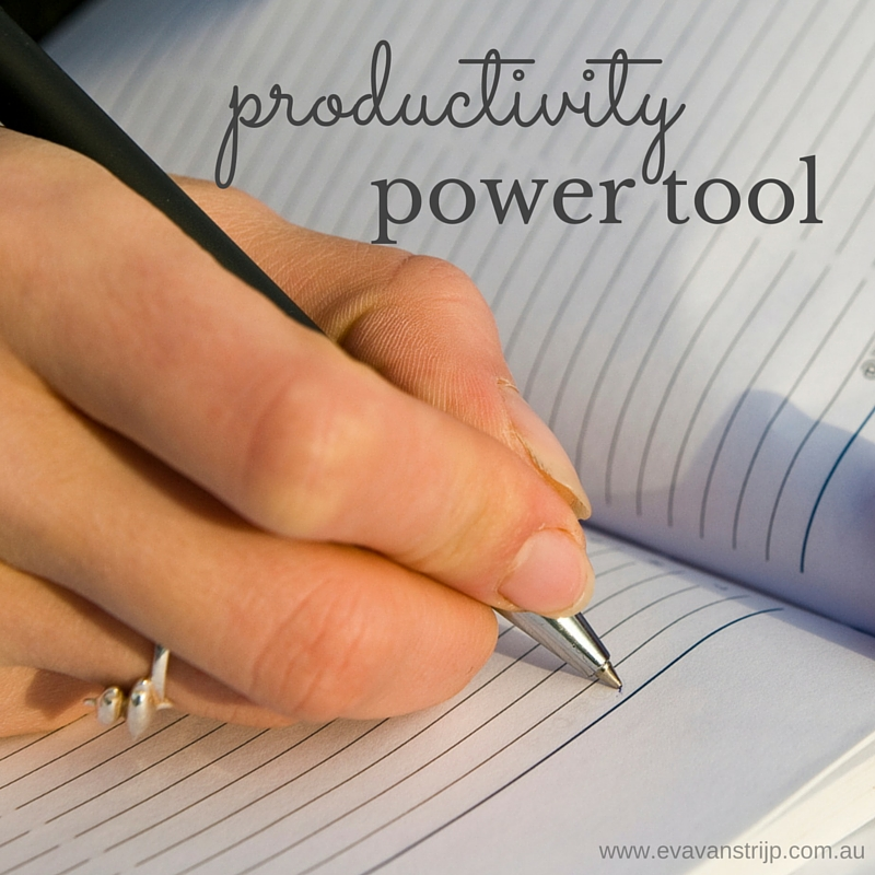 My Number One Productivity Power Tool: The Power of the List