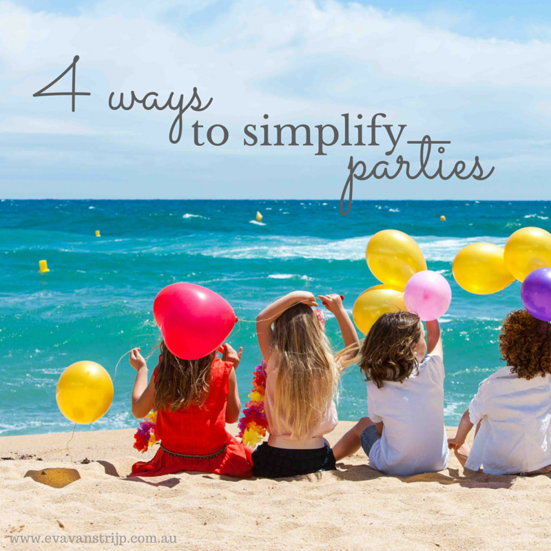 4 Things You Can Do To Simplify Children's Parties