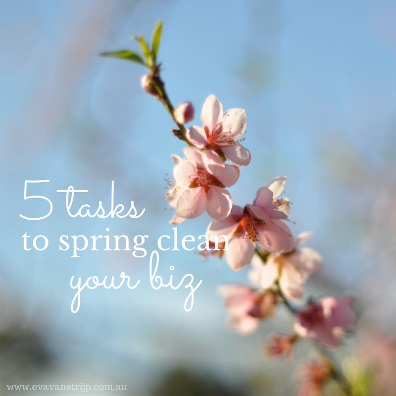 5 tasks to spring clean your business
