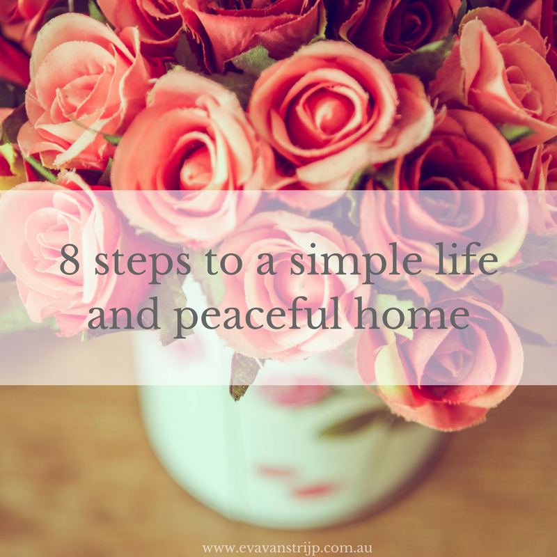 The process of creating a simple life and peaceful home is actually quite simple. It's a proven process that can be tweaked and set and changed again and again and again, every time your season of life changes. While you change and the specific tasks may change, the 8 steps of the process remain the same. Let me share them with you today.