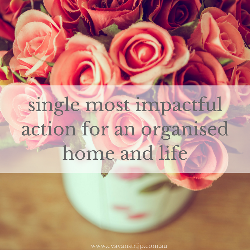 Single most impactful action you can take on your journey towards an organised life and home