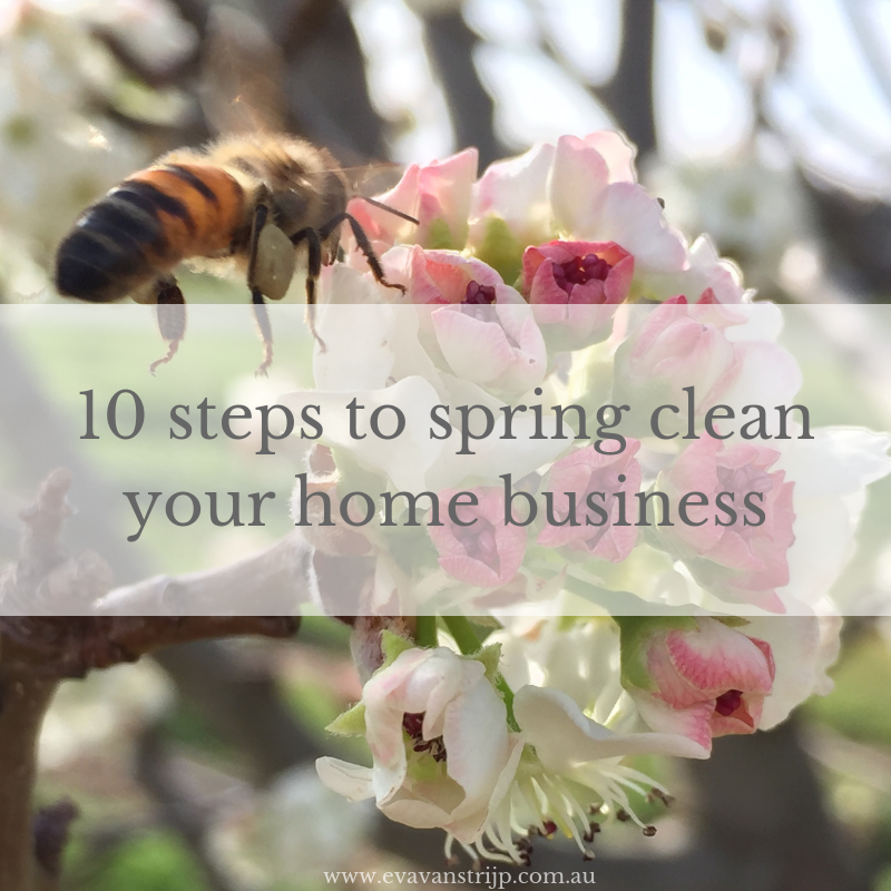 10 Steps to Spring Cleaning Your Home Business