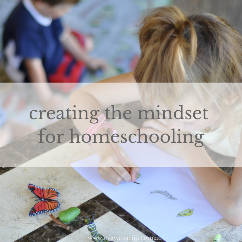 "Homeschooling will challenge most of your pre-conceived ideas about how kids learn and what ""homeschooling"" looks like, so you need to have a very flexible attitude. Here are some of the main mindset shifts that I've been working on."