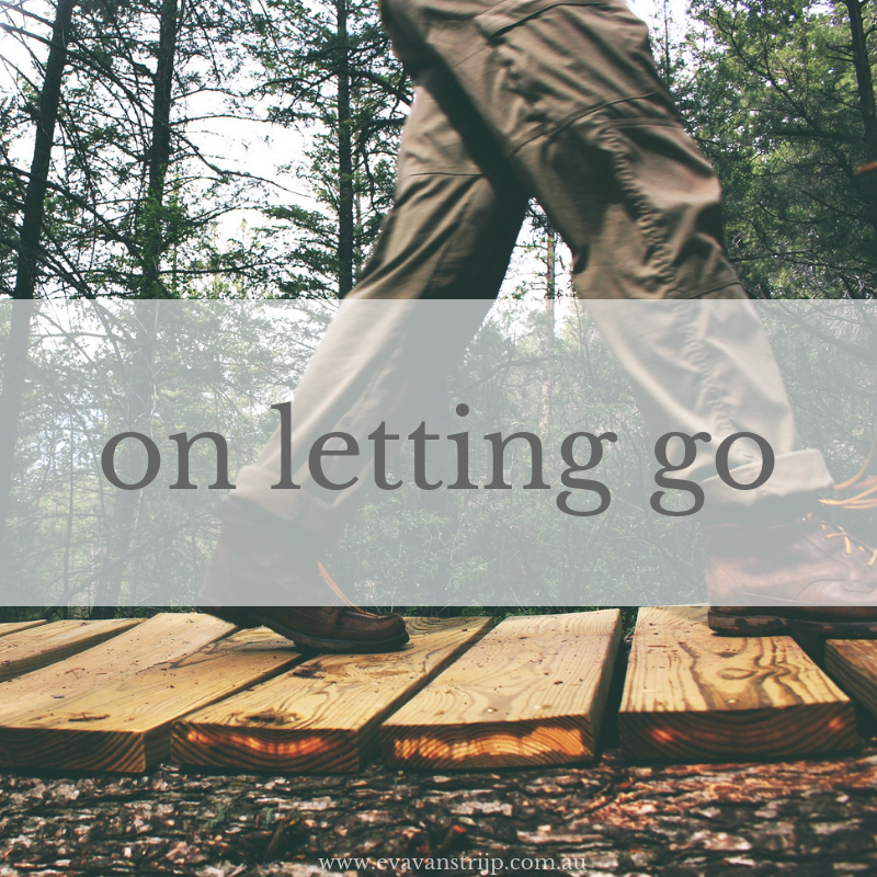 We are never really trapped in any of these situations. Sometimes we have just to release our grip and let go.