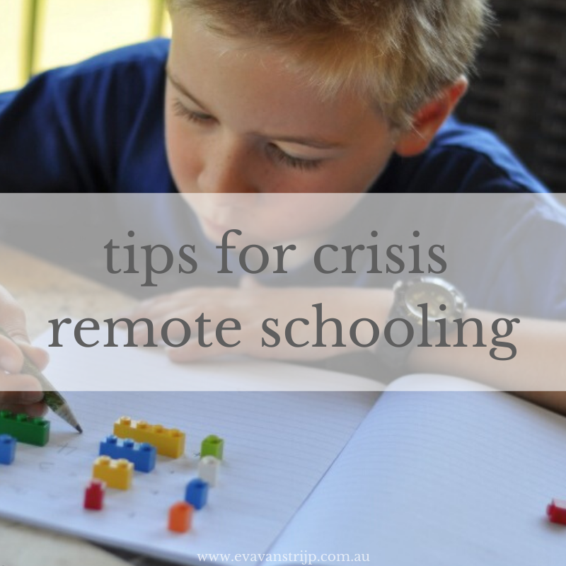 Tips for Crisis Remote Schooling and homeschooling in a pandemic
